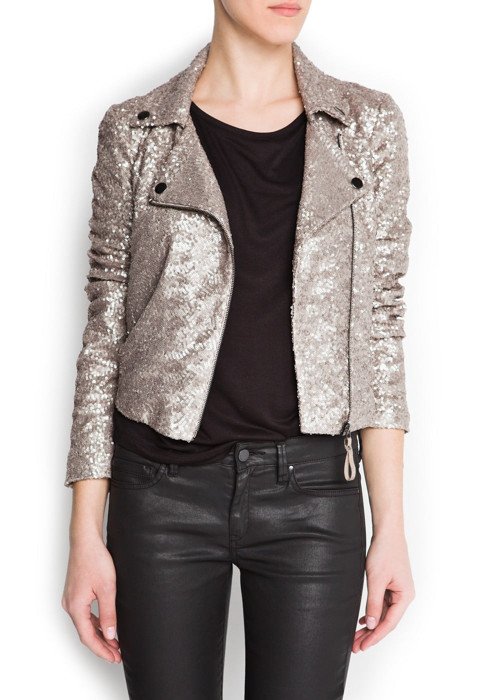 Sequined biker | MANGO