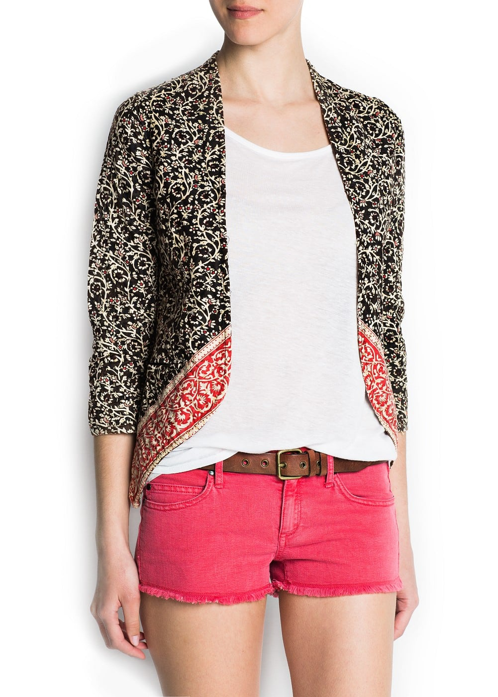 Boho inspired cotton jacket | MANGO