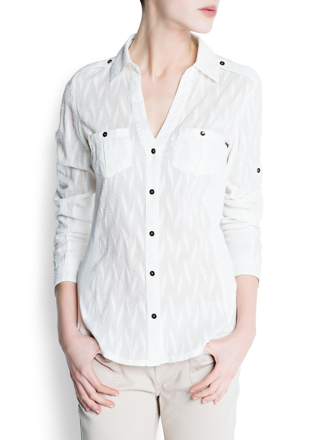 Geometric shaped texture shirt