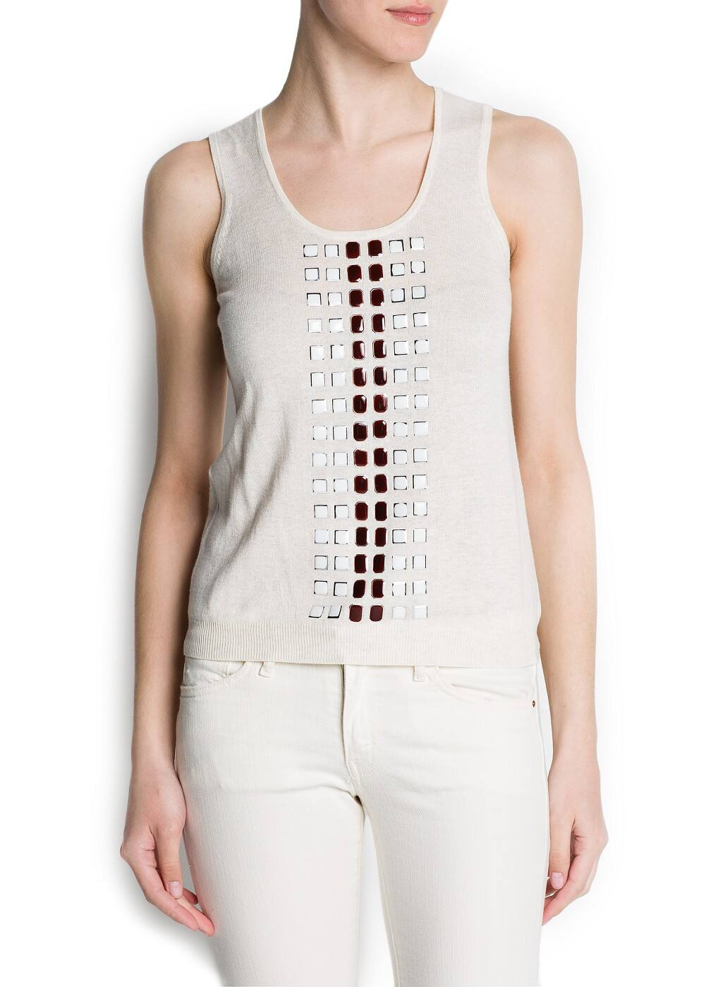 Enameled appliqués top