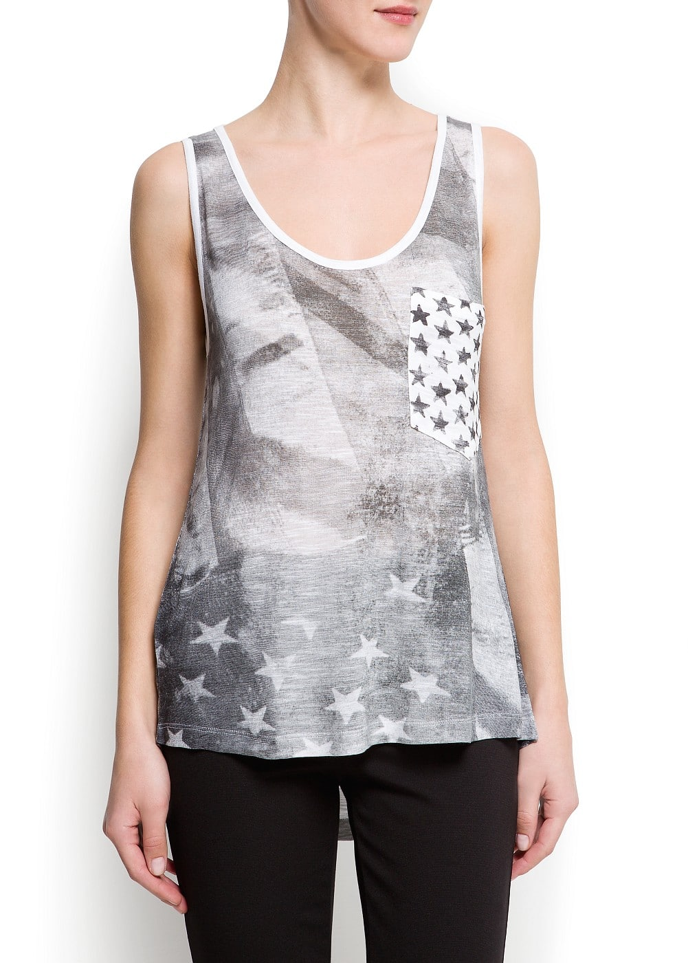 Printed flag t-shirt | MANGO