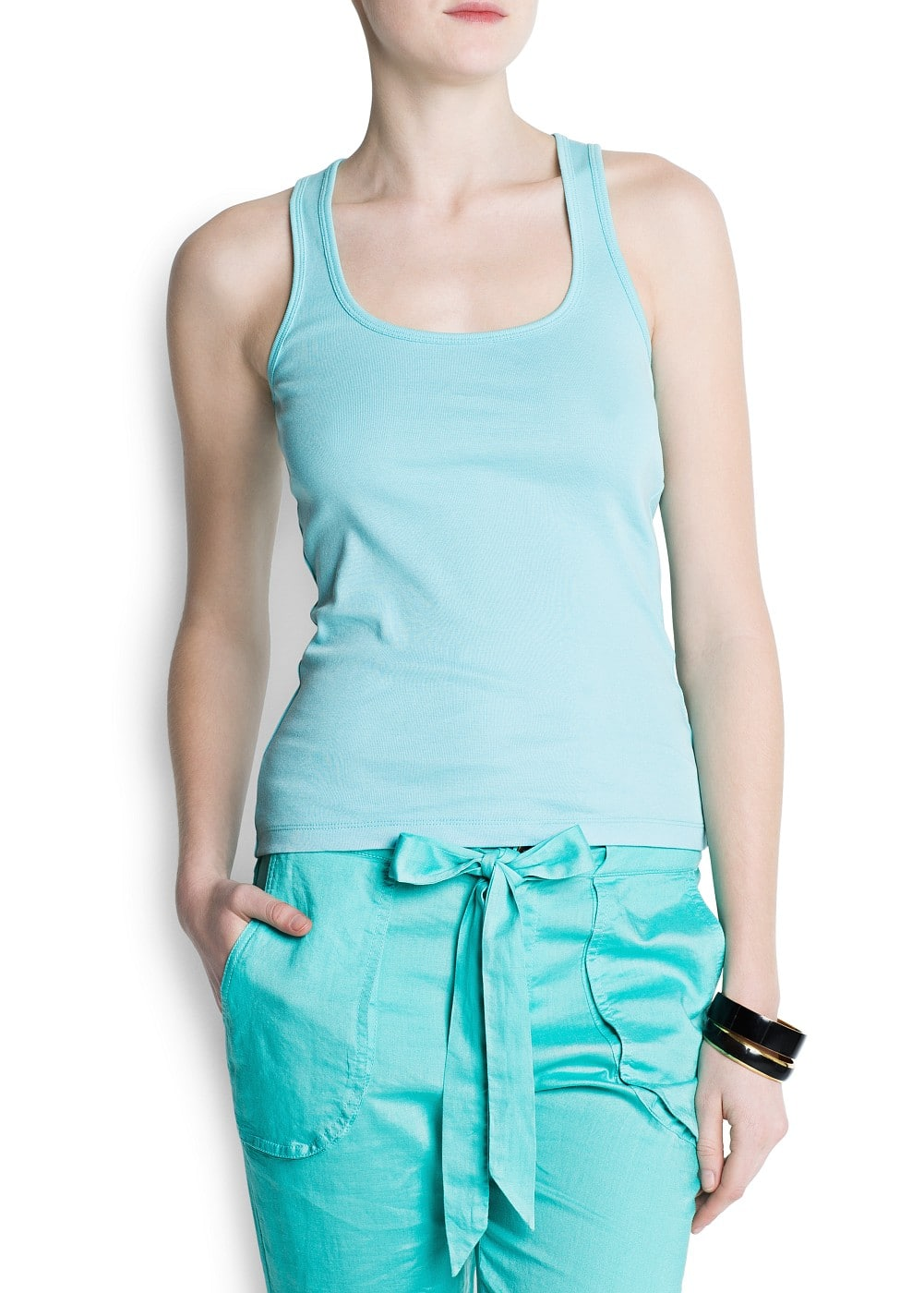 Essential cotton tank top