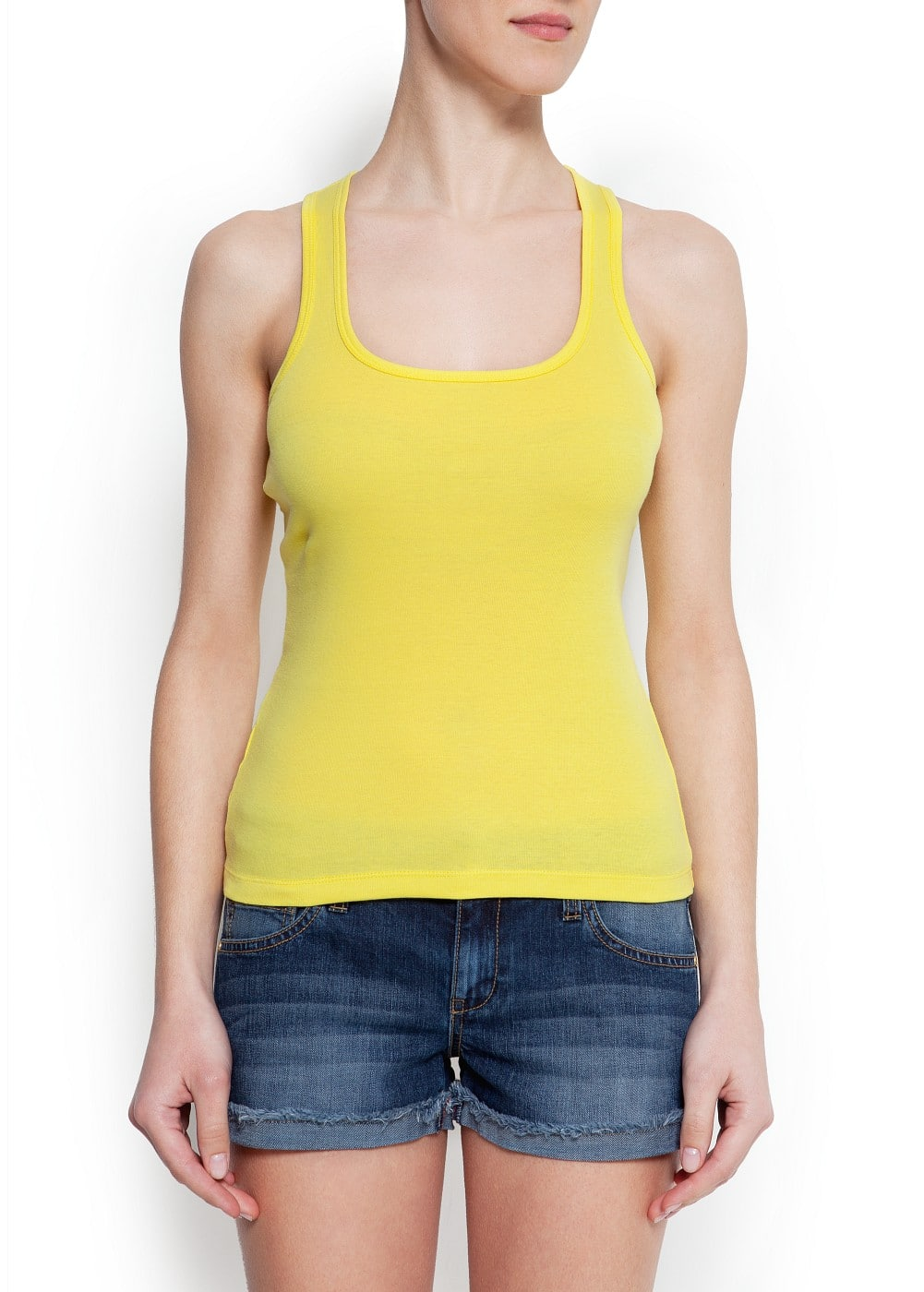 Essential cotton tank top | MANGO