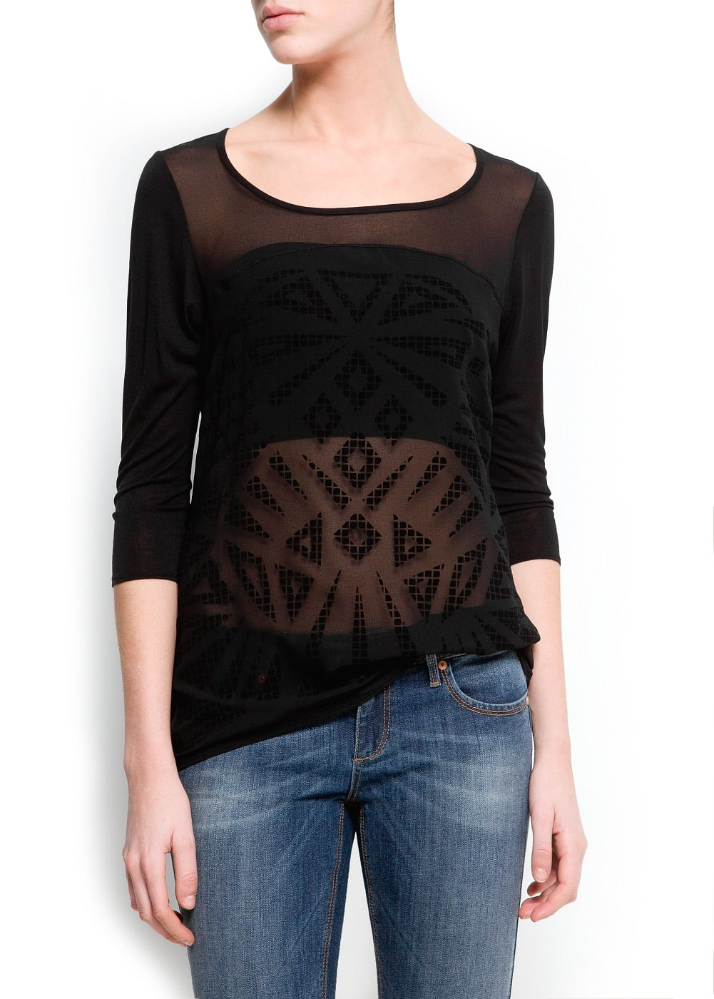 Geometric flocking t-shirt