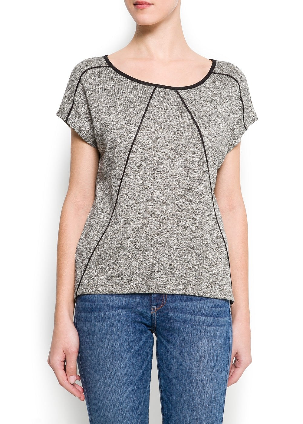 Contrast piping t-shirt