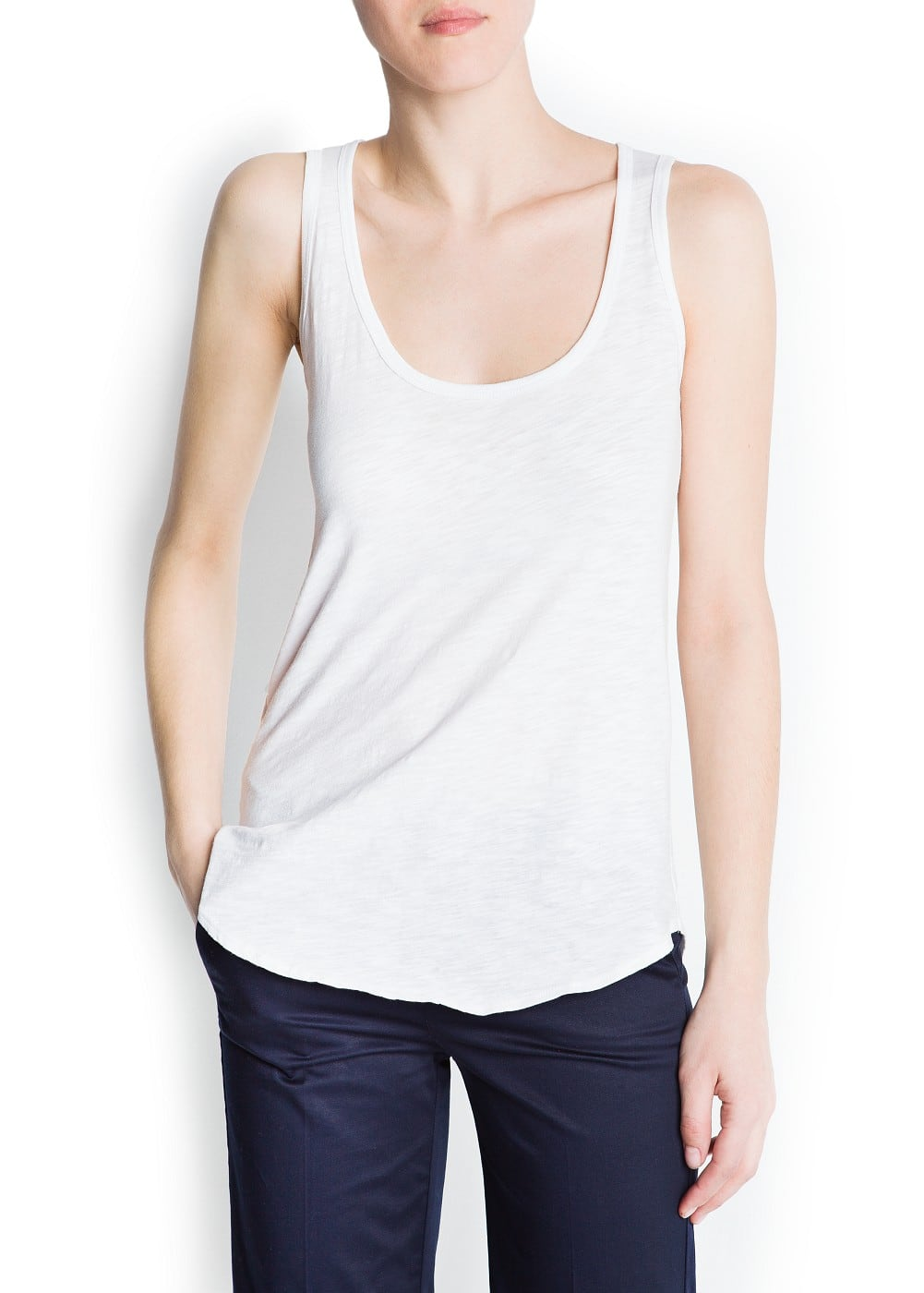 Devoré sleeveless t-shirt