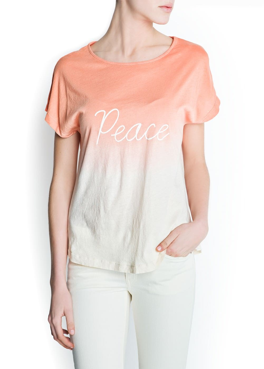 Message ombré t-shirt
