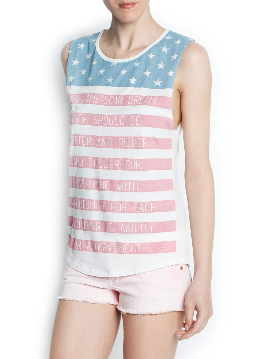 """usa"" printed t-shirt 