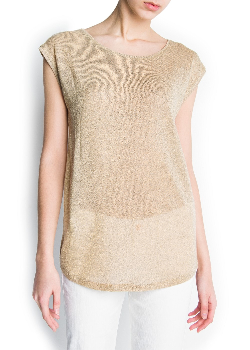 Sheer t-shirt | MANGO