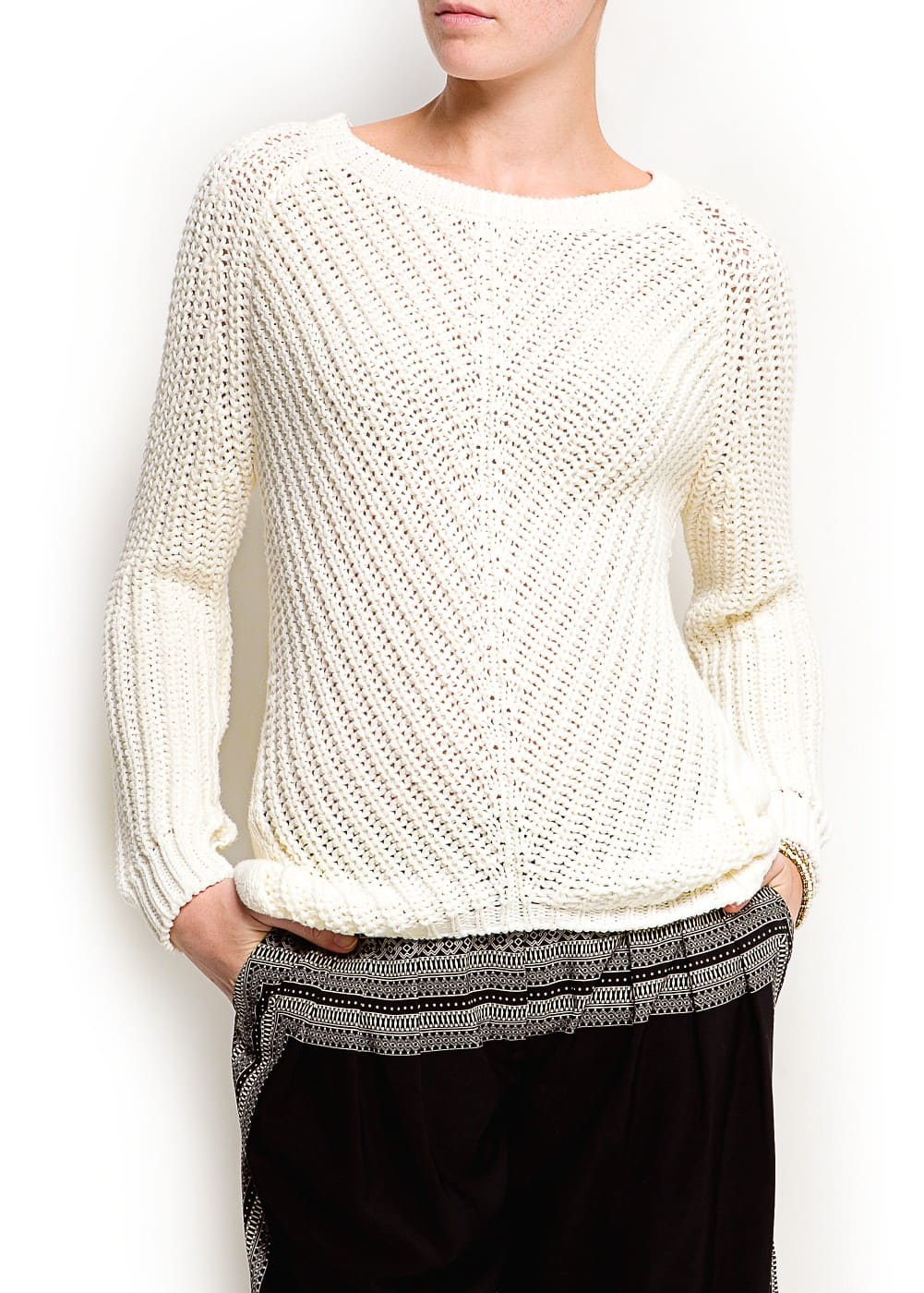 Chunky knit sweater | MANGO