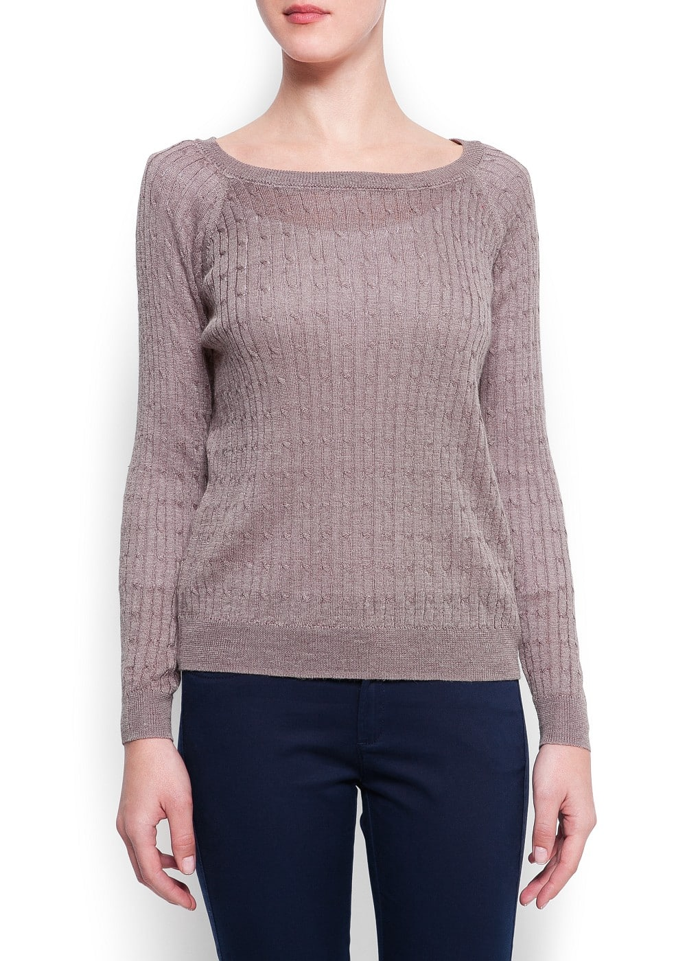 Cable knit sweater | MANGO