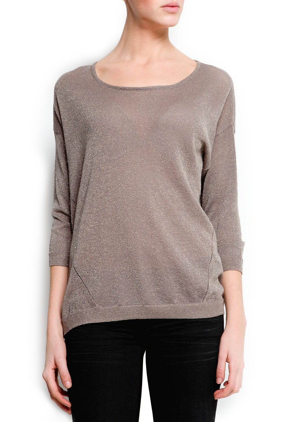 Metallic light knit sweater | MANGO