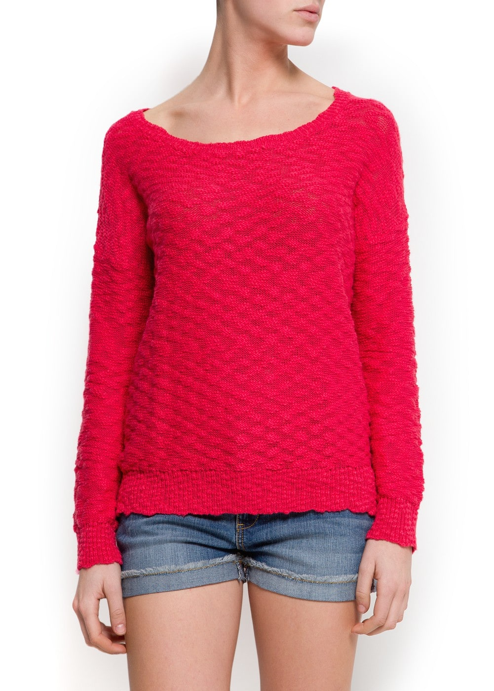 Devoré knit sweater | MANGO