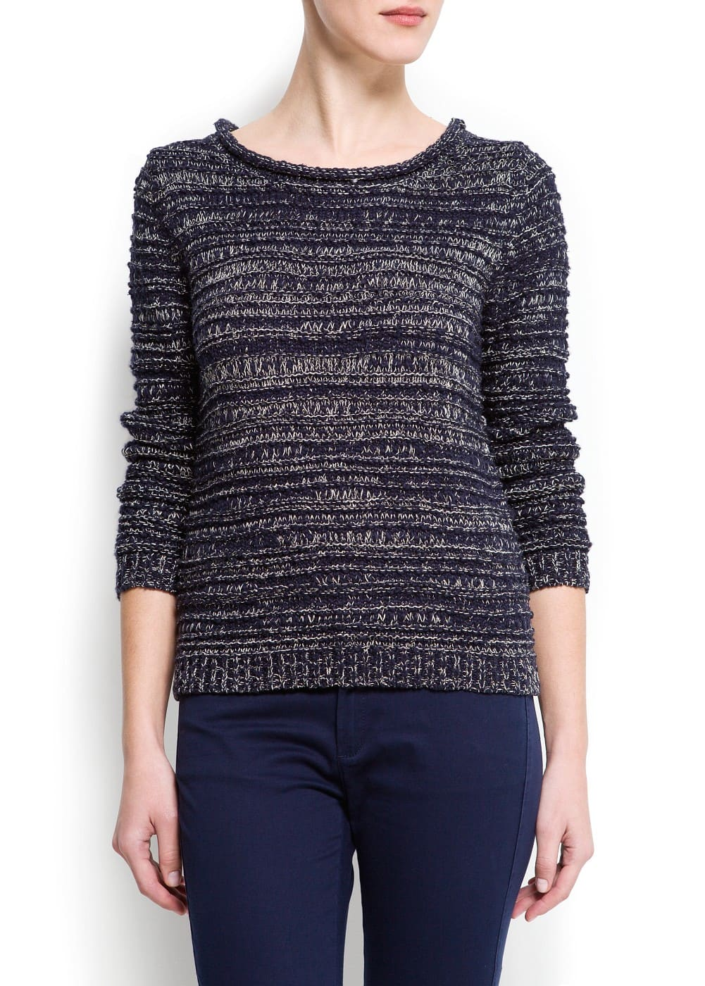 Textured lurex sweater