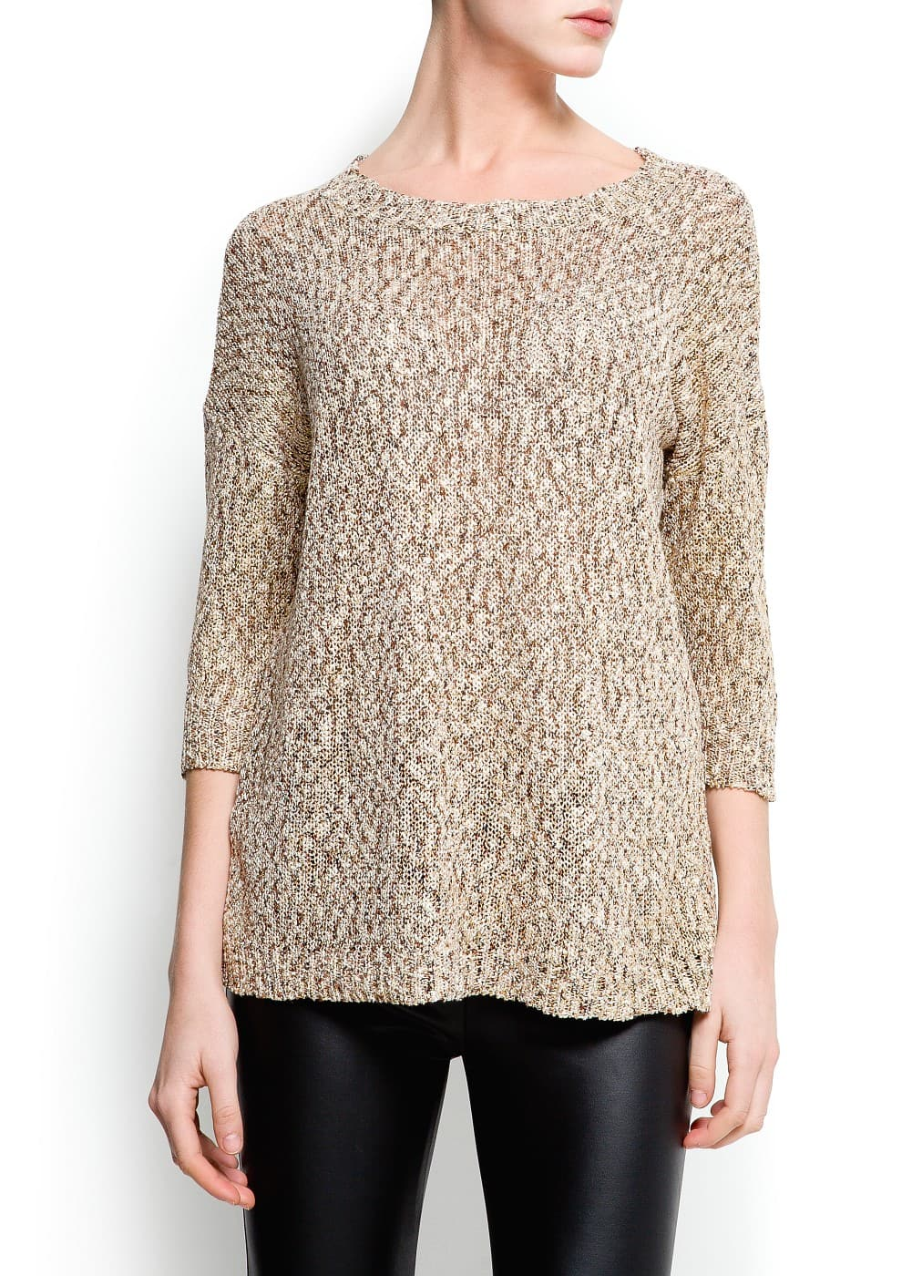 Metallic flecked sweater