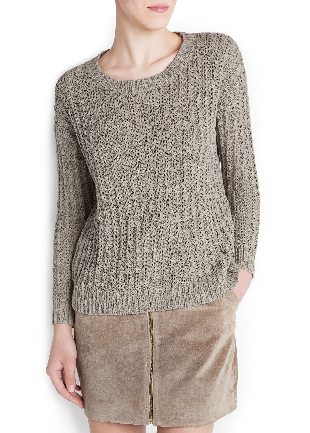 Ribbed knit sweater | MANGO
