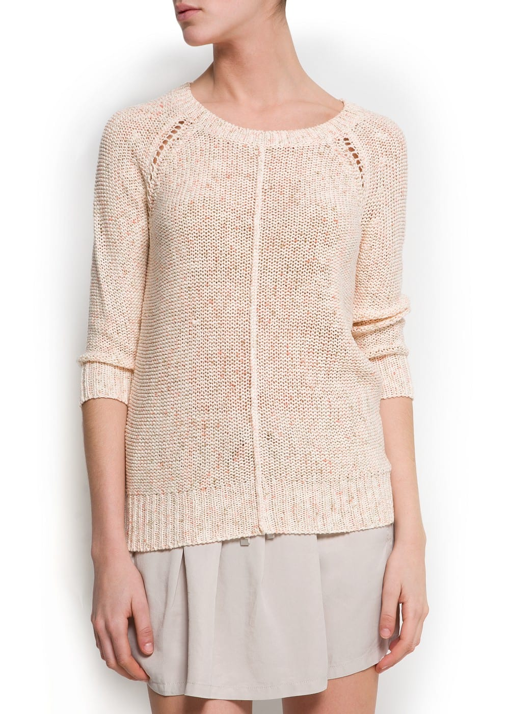 Flecked knit sweater