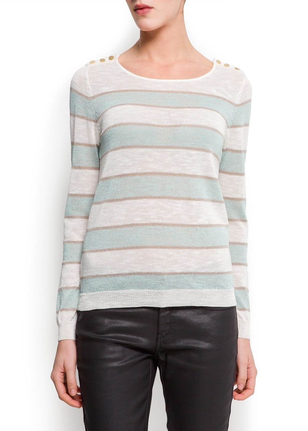 Striped fine knit sweater | MANGO