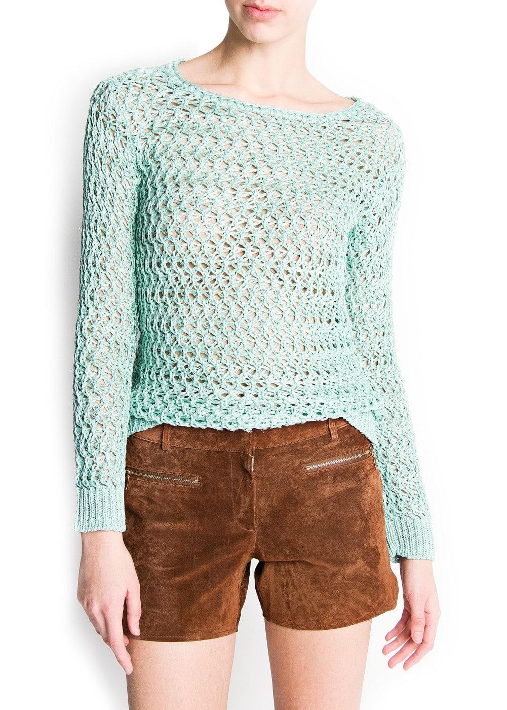 Open knit lurex jumper | MANGO