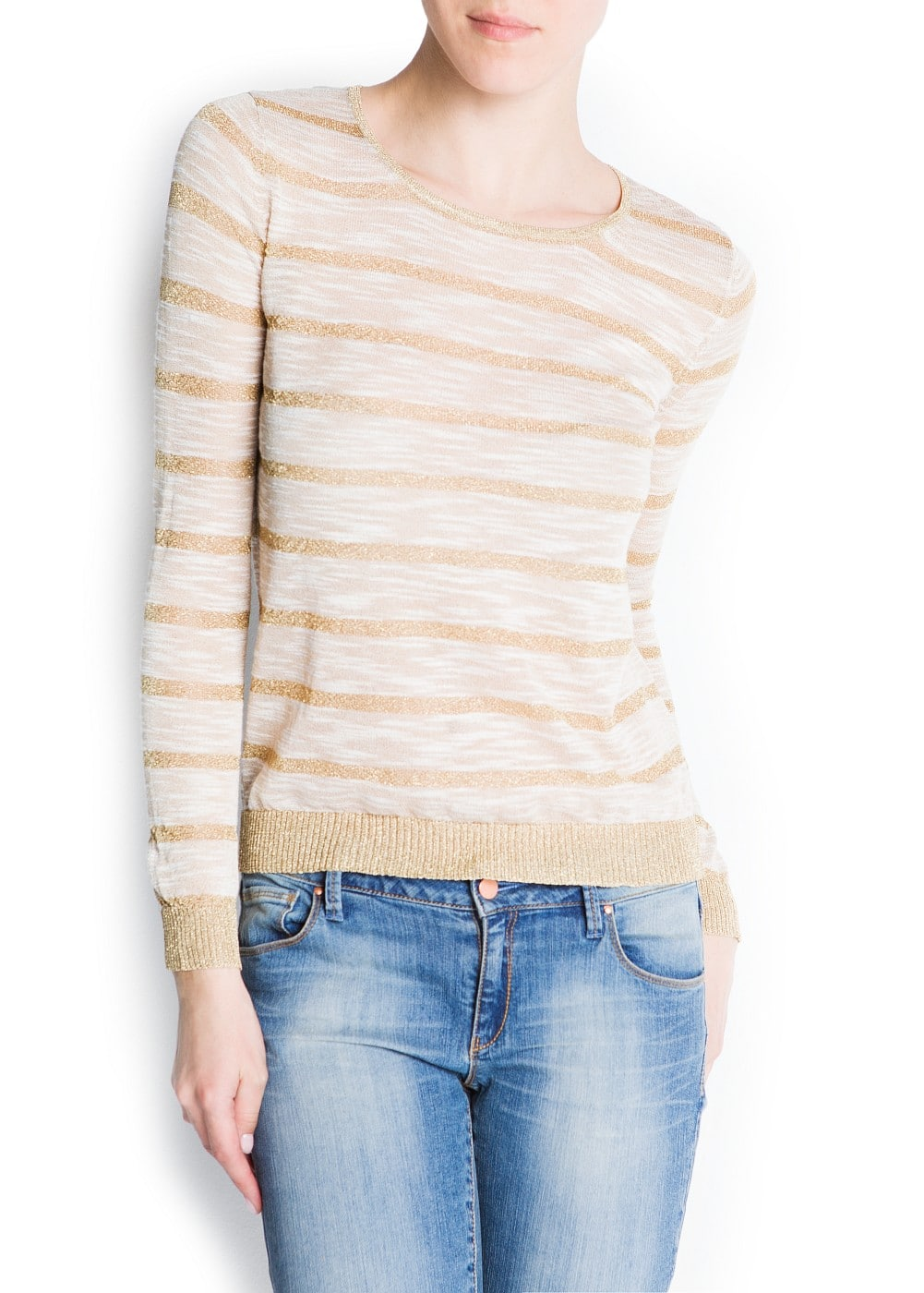 Striped fine knit sweater