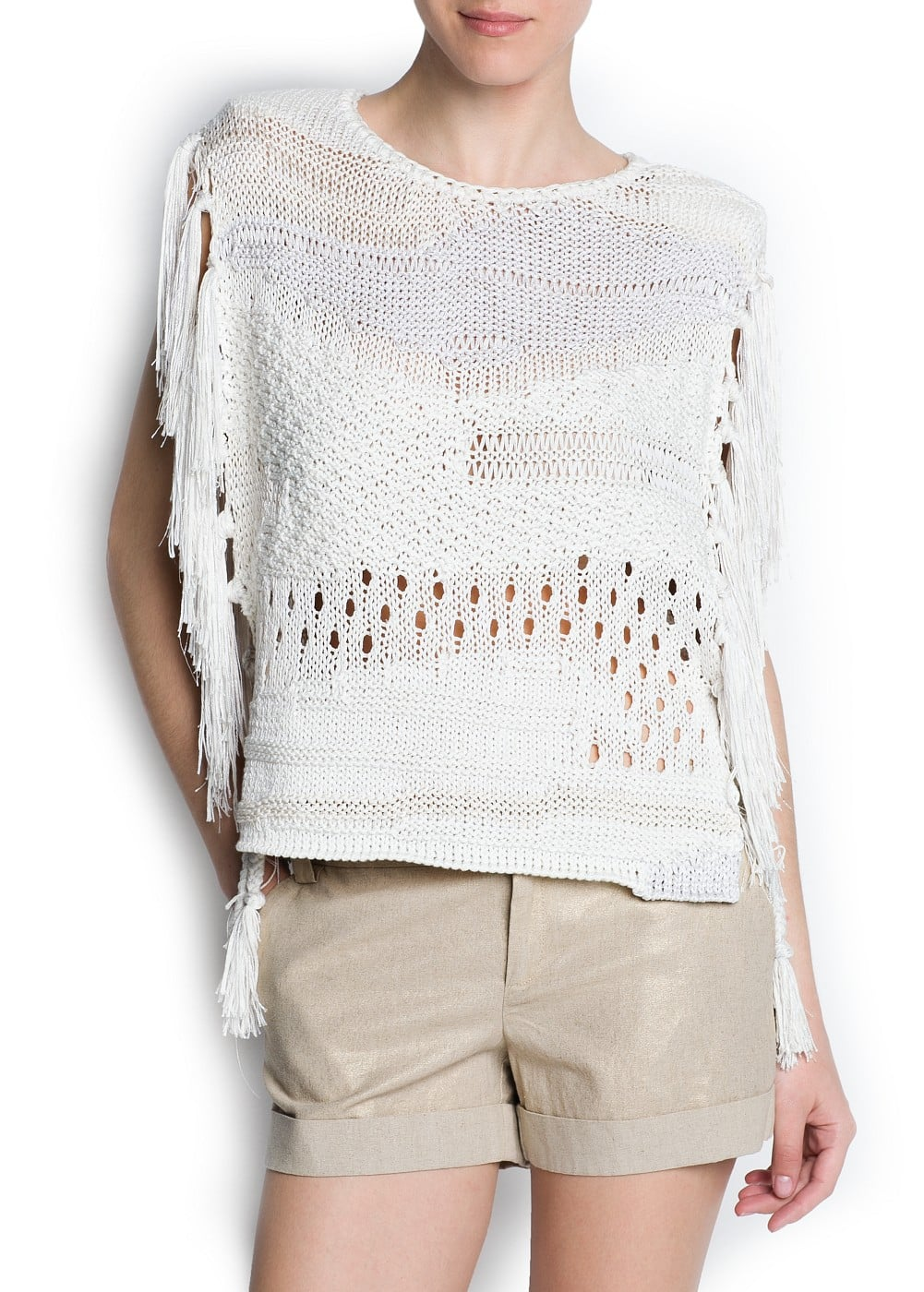 Fringed navajo sweater | MANGO