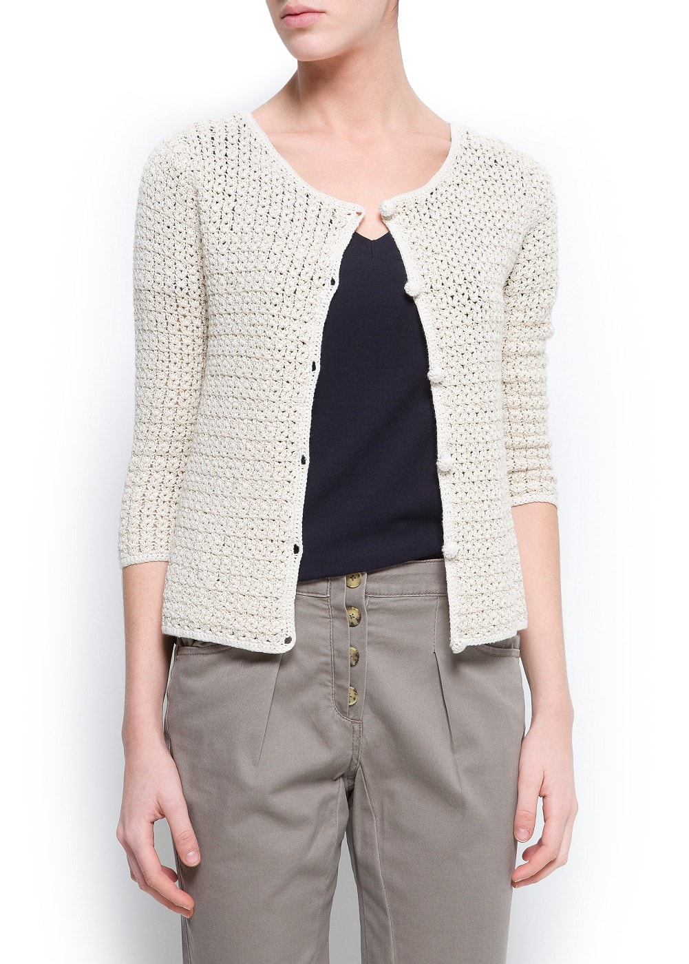 Open work cardigan | MANGO