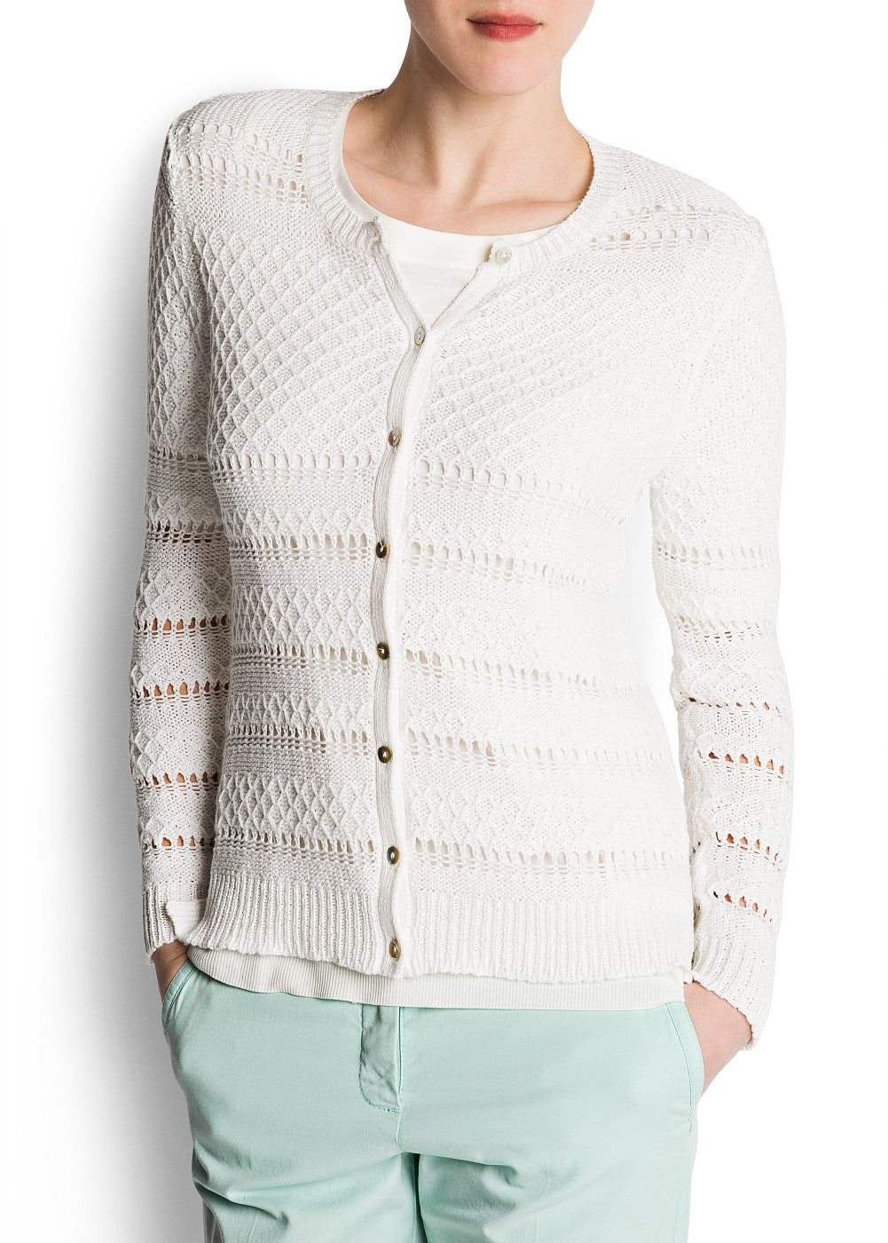 Open work cardigan