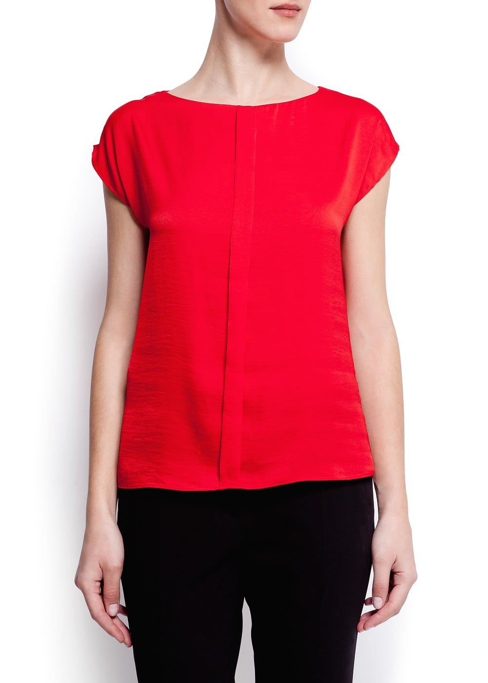 Pleated loose-fit blouse