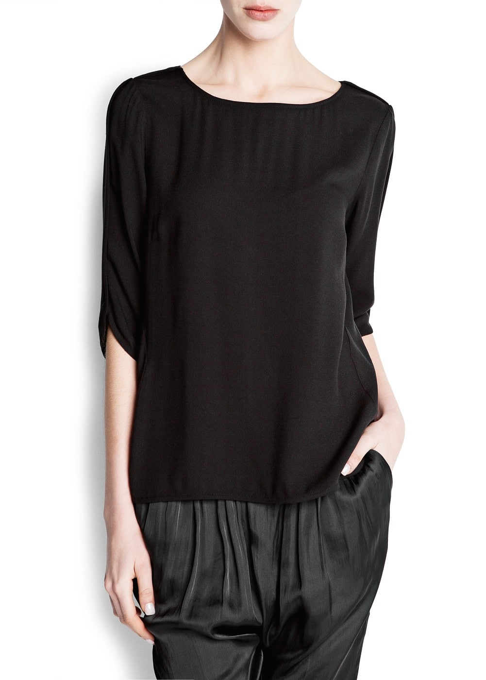 Metal fastening blouse