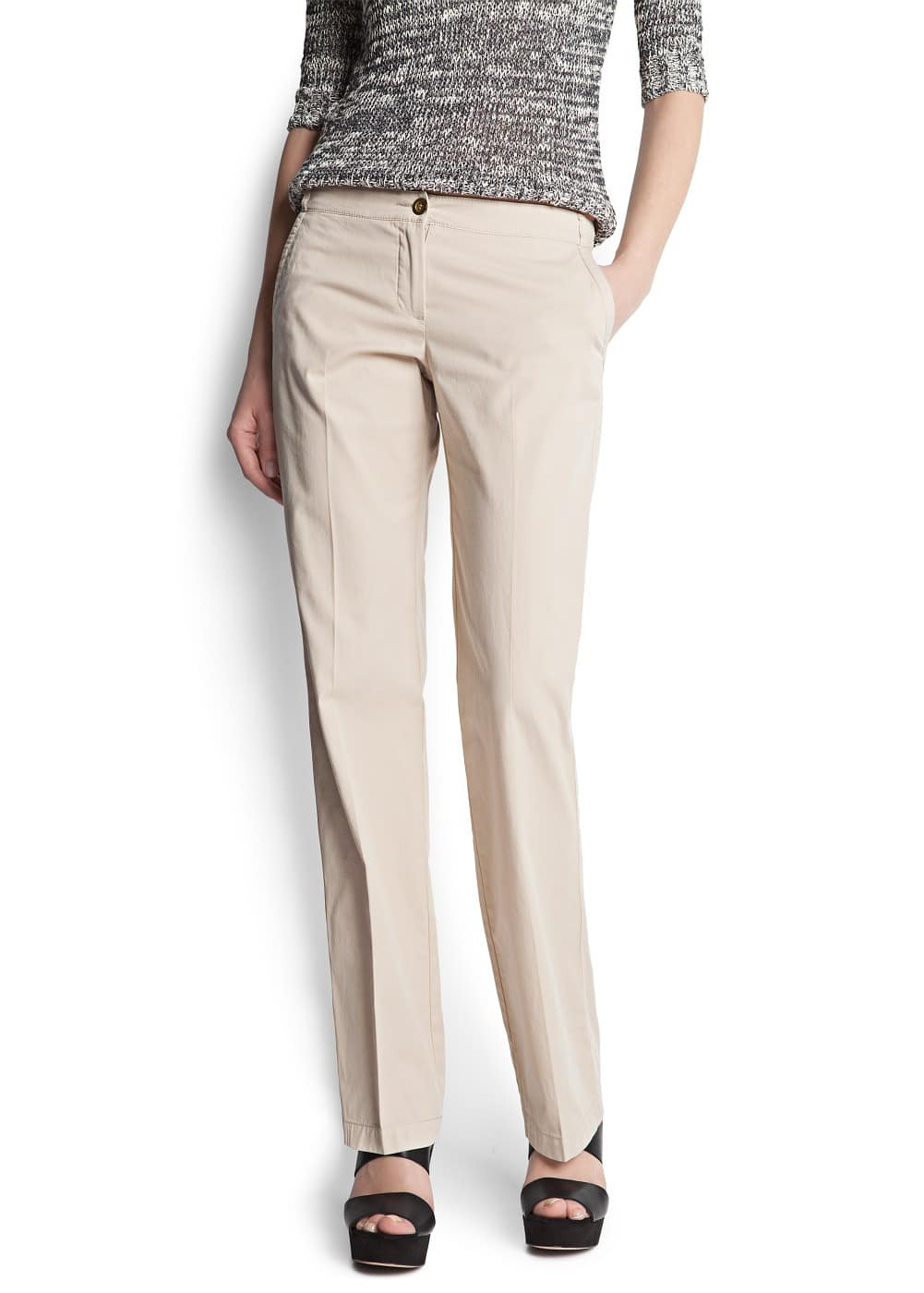 Straight-cut chino trousers