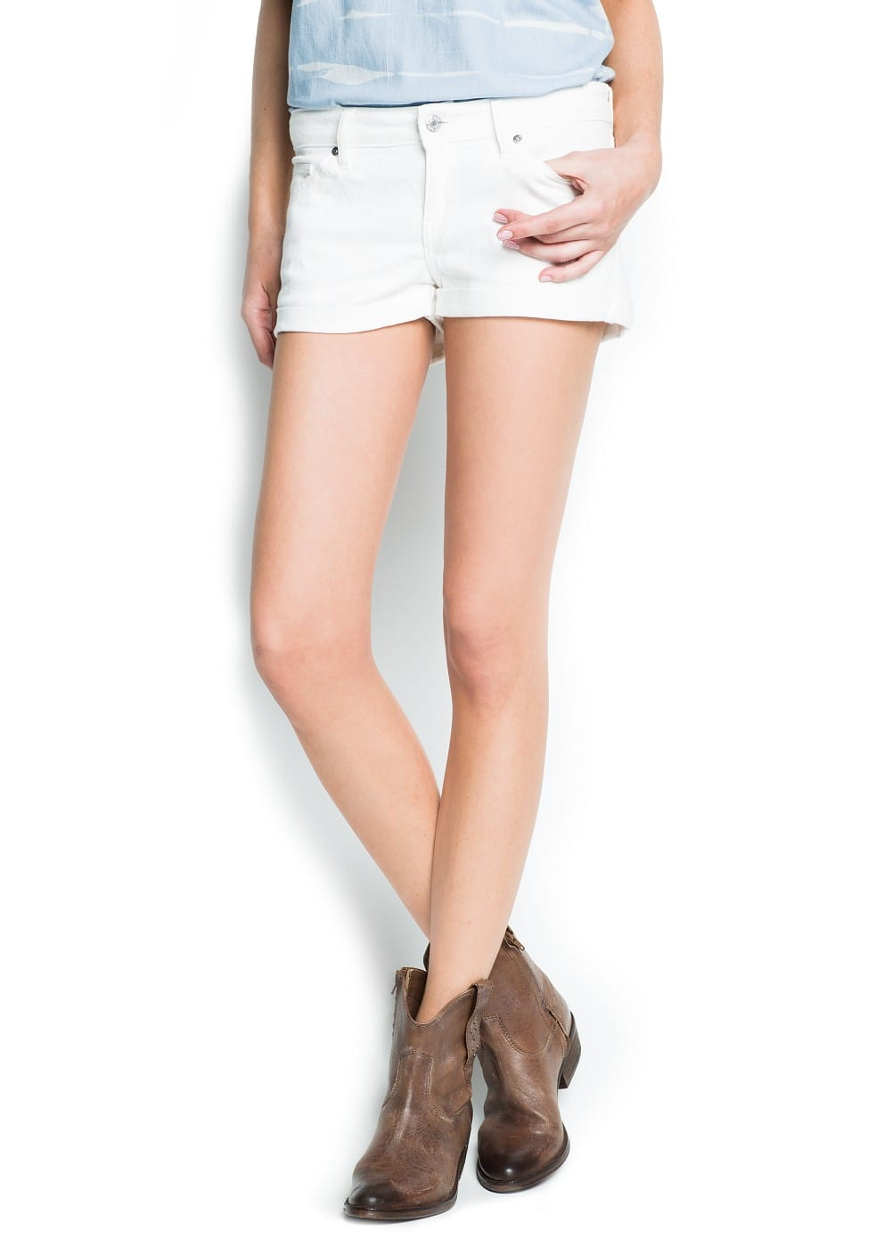 Denim shorts | MANGO