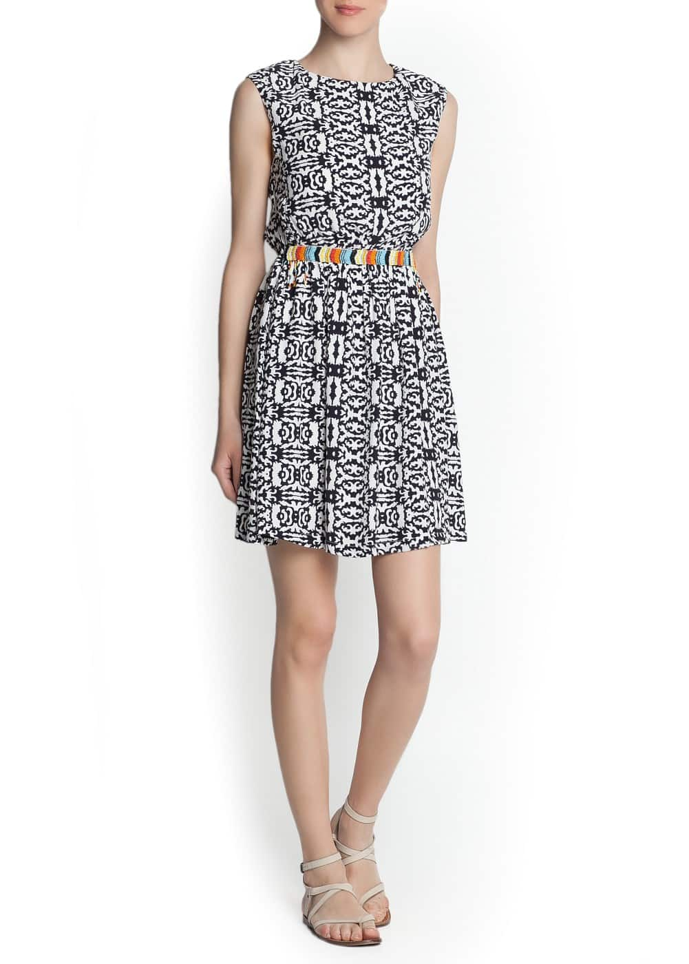 Ethnic appliqué printed dress | MANGO