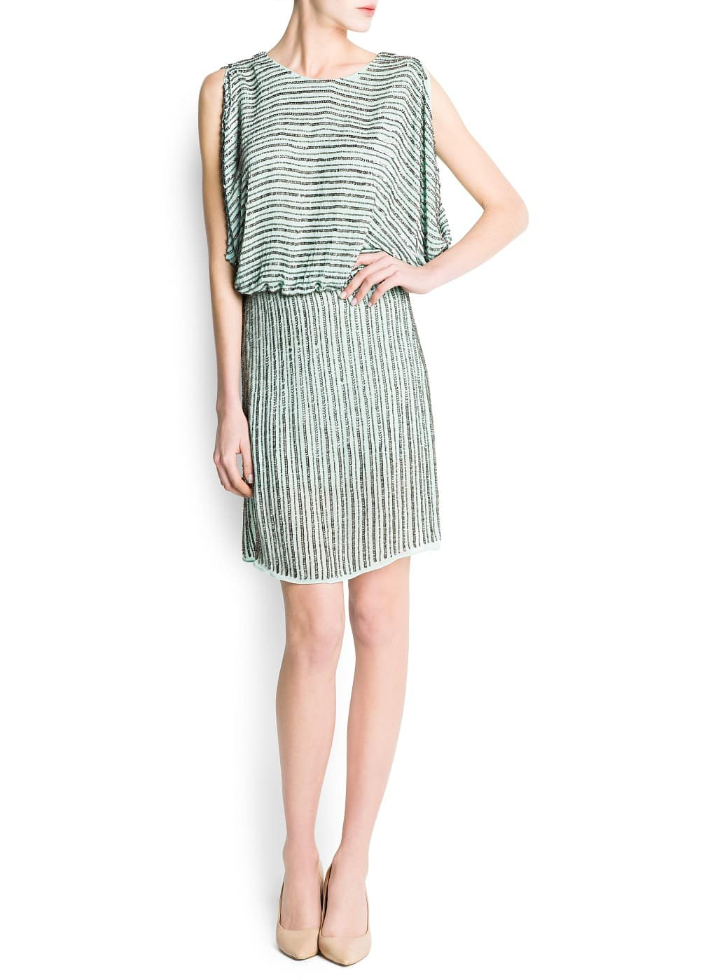 Cut-out sequined dress | MANGO