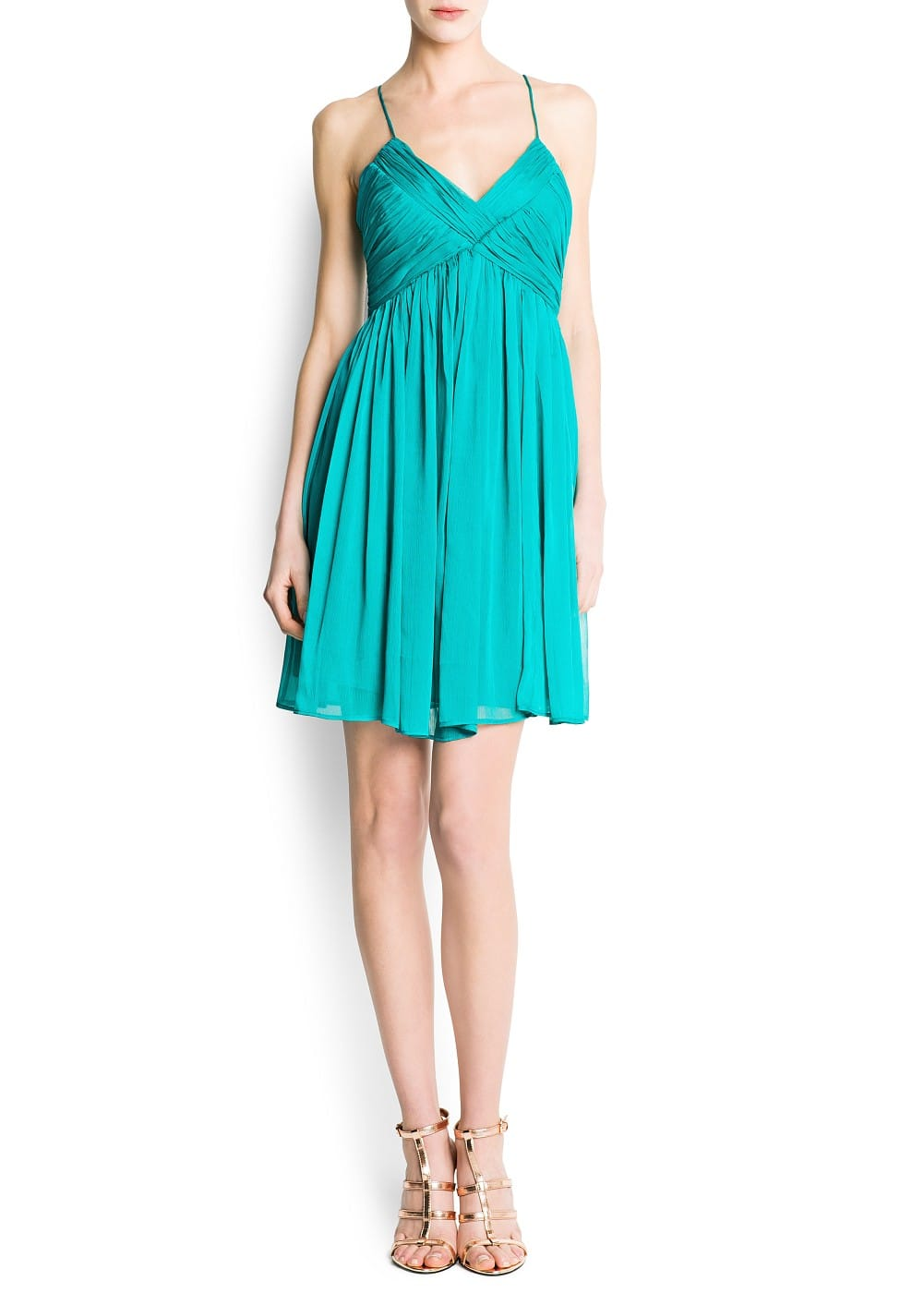 Chiffon draped dress | MANGO