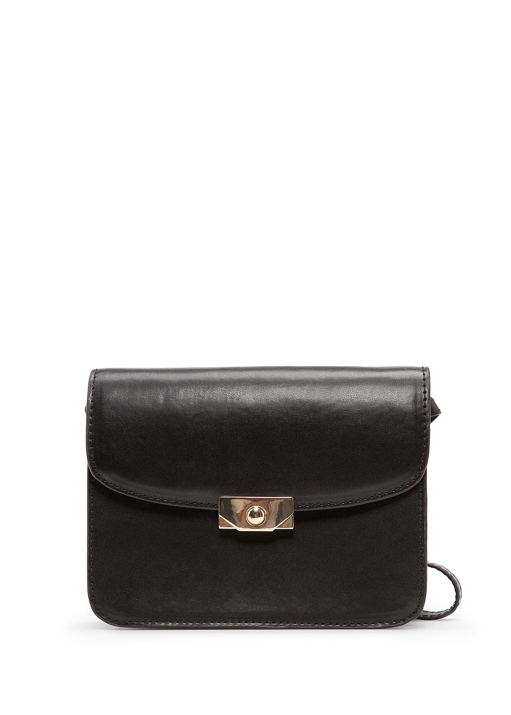 Metallic clasp shoulder bag | MANGO