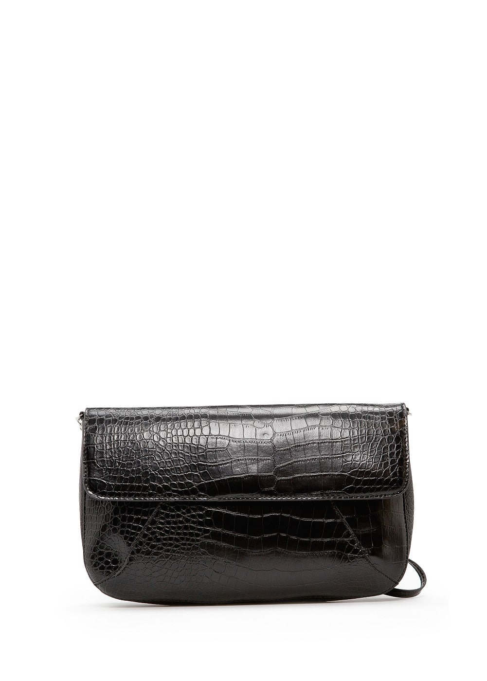 Croc effect shoulder bag | MANGO