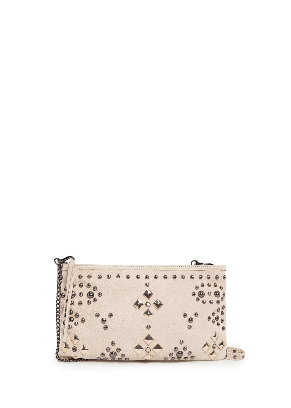 Studded suede bag