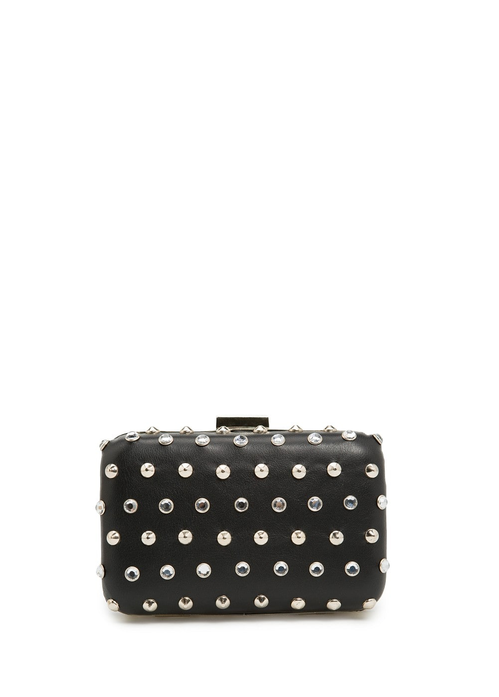 Crystals and studs box clutch