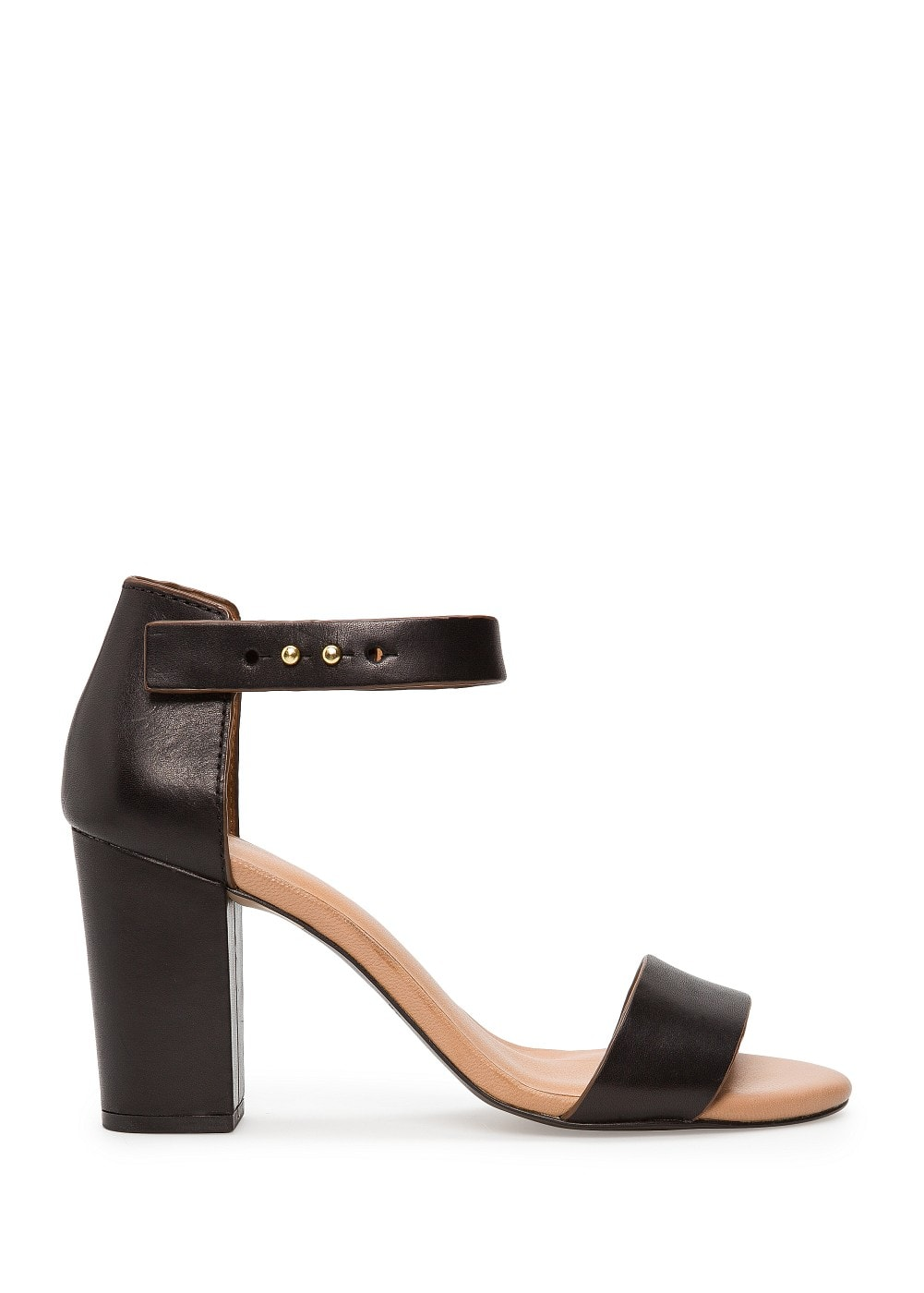 Leather ankle strap sandals
