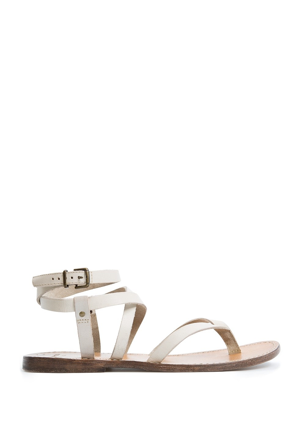 Leather multi-strap sandals