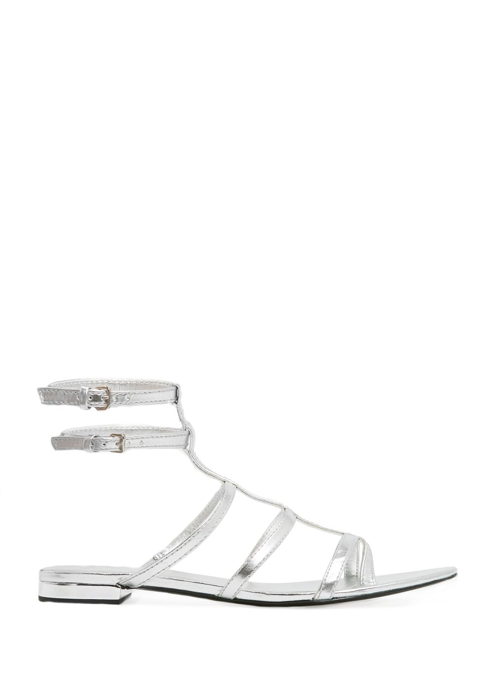 Metallic strappy sandals