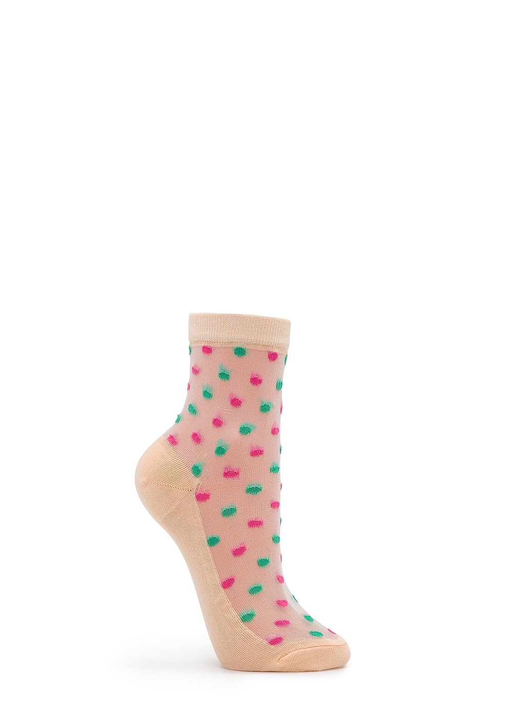 Polka-dots sheer socks