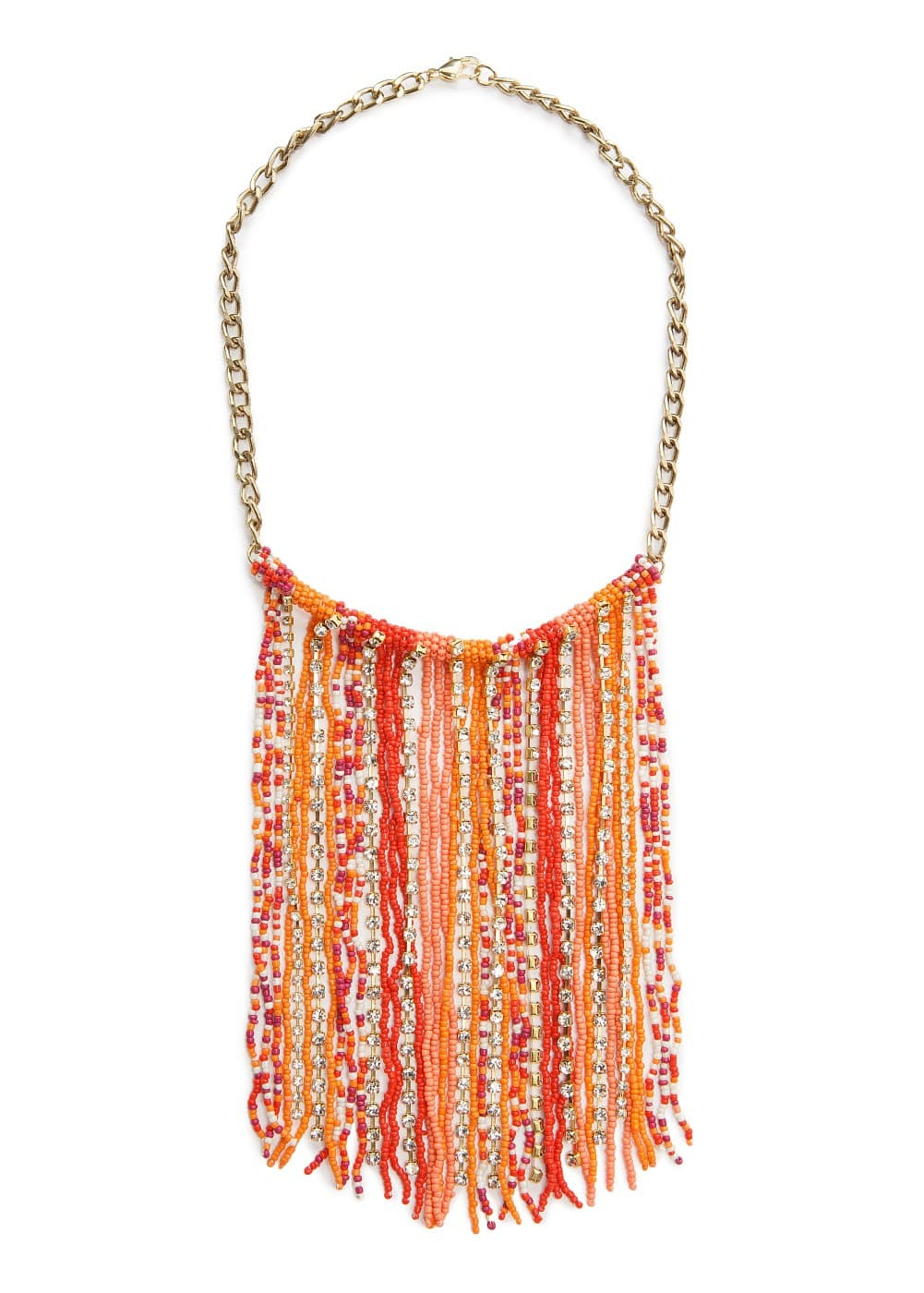 Beads cascading necklace