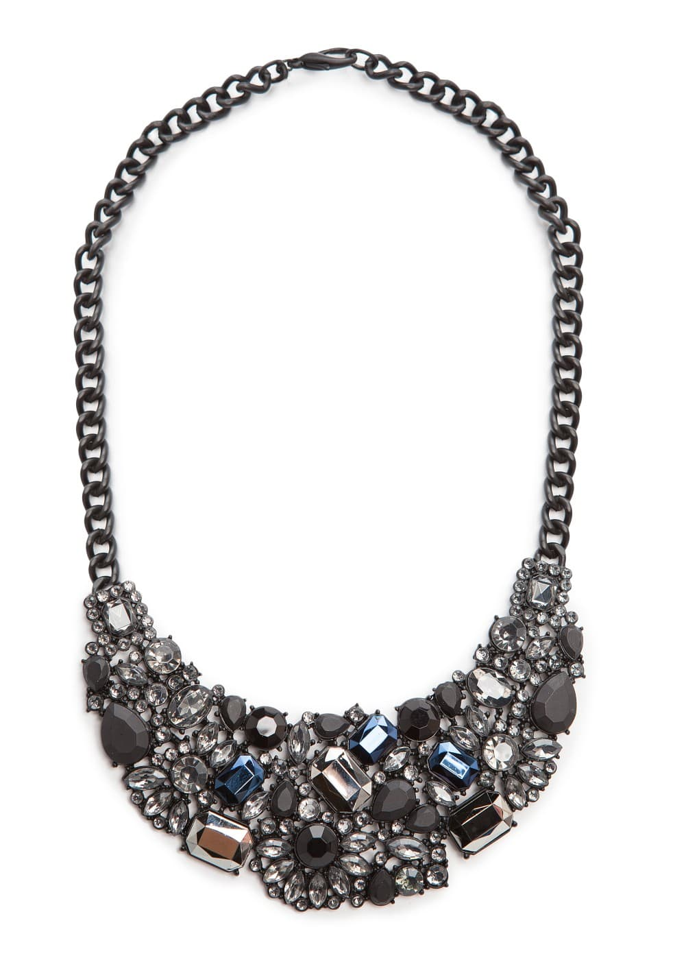 Matt stones bib necklace