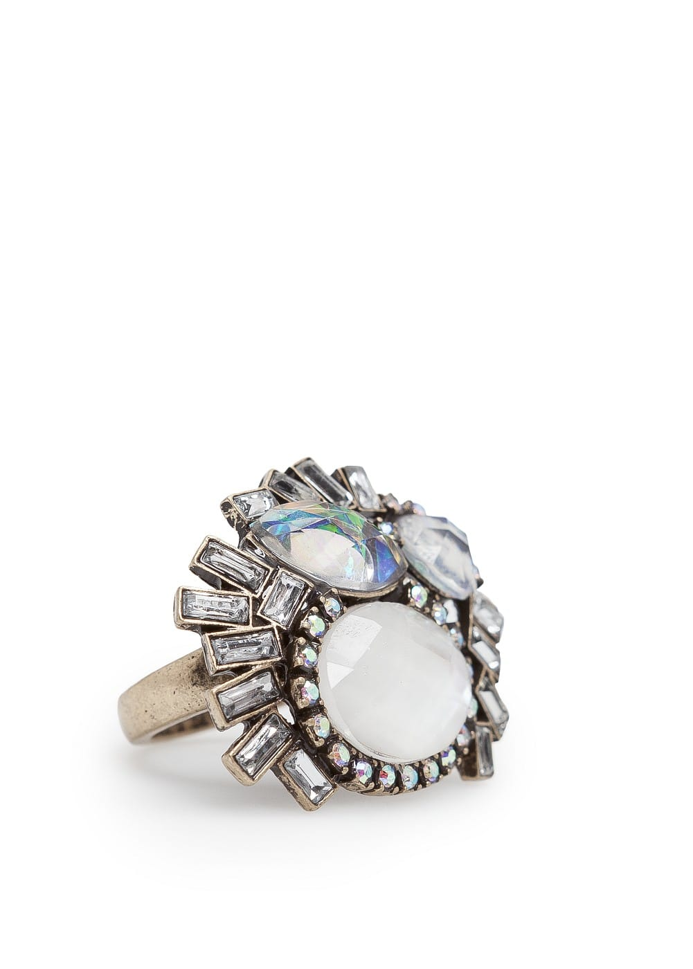 Holographic crystals ring | MANGO