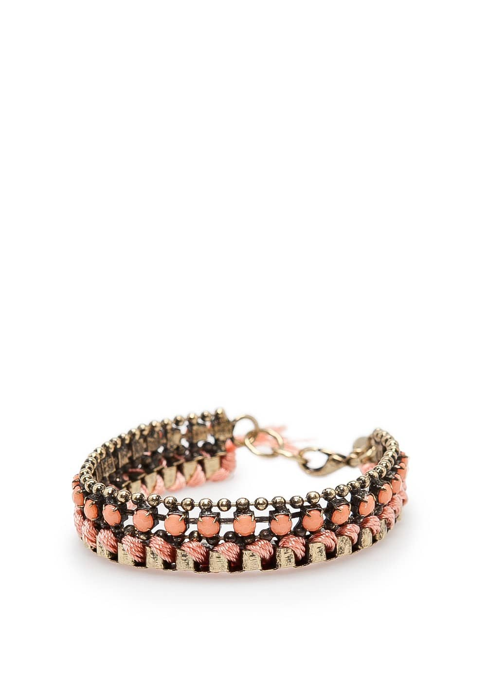 Interlaced cord bracelet | MANGO