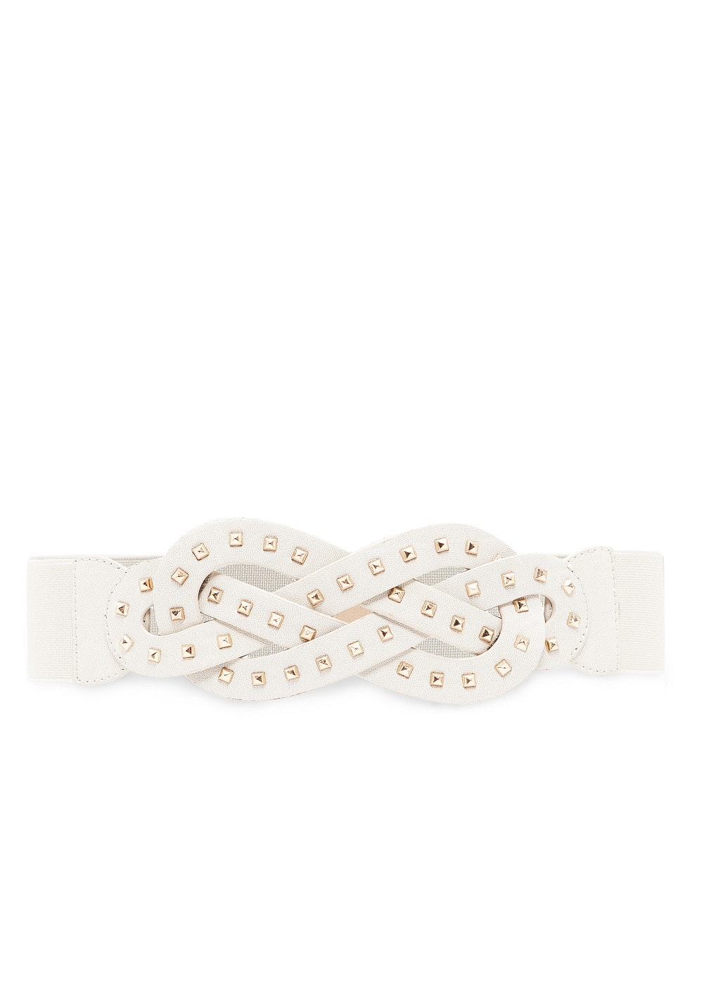 Intertwined studded belt