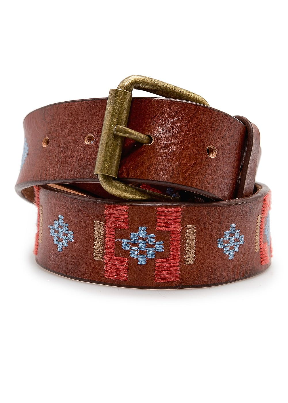 Ethnic leather belt
