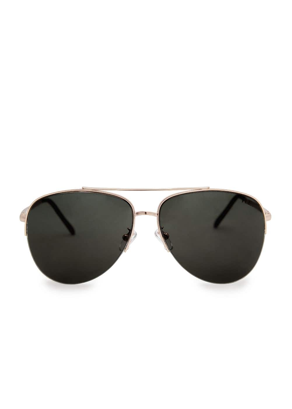 METALLIC FRAME AVIATOR SUNGLASSES