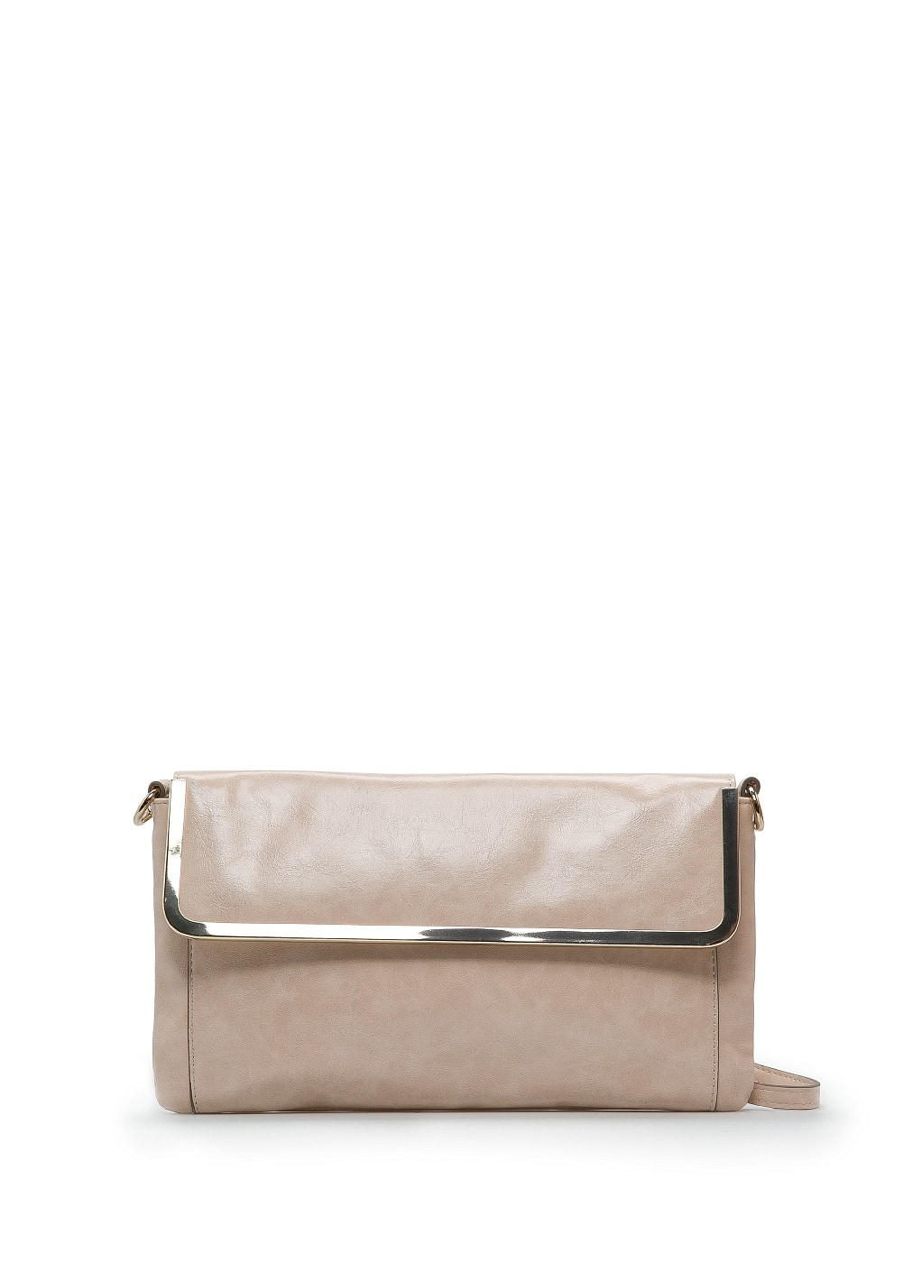 Metal frame shoulder bag